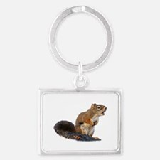 Singing Squirrel Landscape Keychain