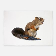 Singing Squirrel 5'x7'Area Rug