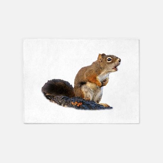 Singing Squirrel 5'x7'Area Rug