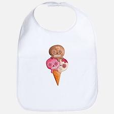El Dia de Los Muertos Ice Cream Bib