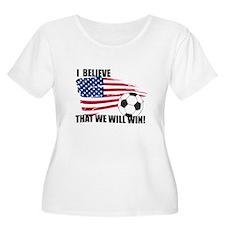 World Soccer USA I believe Plus Size T-Shirt