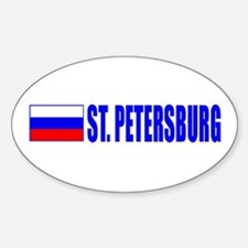 St. Petersuburg, Russia Oval Decal