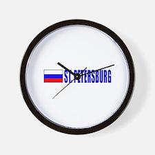 St. Petersuburg, Russia Wall Clock