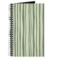 Into The Woods Stripes Green Journal
