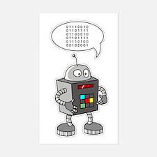 Binary Robot Rectangle Decal
