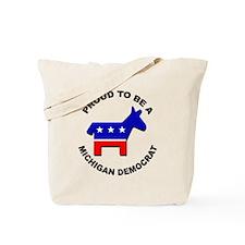 Proud Michigan Democrat Tote Bag