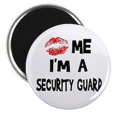 Kiss Me I'm A Security Guard Magnet