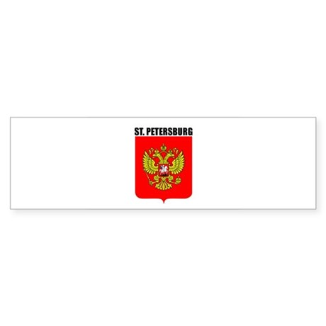 St. Petersburg, Russia Bumper Sticker