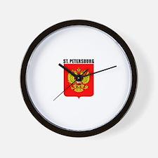 St. Petersburg, Russia Wall Clock