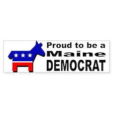 Proud Maine Democrat Bumper Sticker