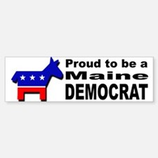 Proud Maine Democrat Sticker (Bumper)