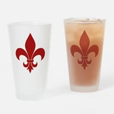 Fleur de lis French Pattern Parisian Design Drinki
