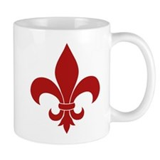 Fleur de lis French Pattern Parisian Design Mugs