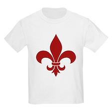 Fleur de lis French Pattern Parisian Design T-Shir
