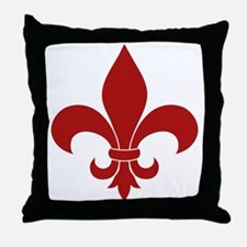 Fleur de lis French Pattern Parisian Design Throw