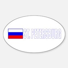 St. Petersburg, Russia Oval Decal