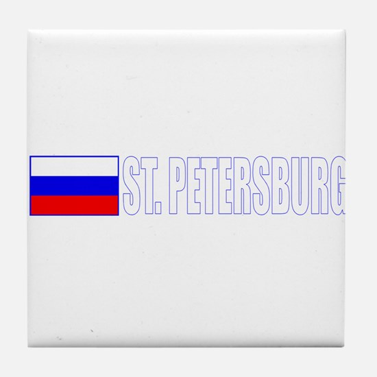 St. Petersburg, Russia Tile Coaster