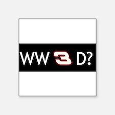 """Unique Dale earnhardt Square Sticker 3"""" x 3"""""""