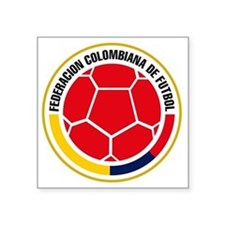 "Futbol de Colombia Square Sticker 3"" x 3"""