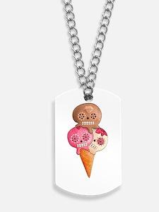 El Dia de Los Muertos Ice Cream Dog Tags