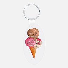 El Dia de Los Muertos Ice Cream Keychains