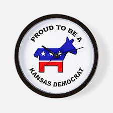 Proud Kansas Democrat Wall Clock
