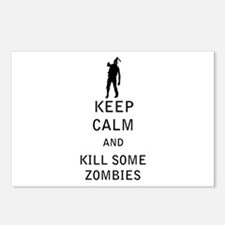 Keep Calm and Kill Some Zombies Postcards (Package