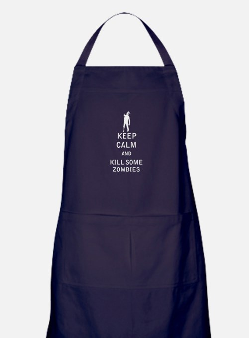 Keep Calm and Kill Some Zombies Apron (dark)