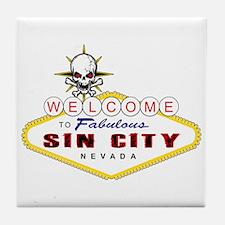Las Vegas-Sin City Sign-2 Tile Coaster