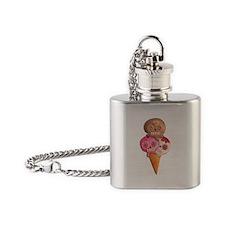 El Dia de Los Muertos Ice Cream Flask Necklace
