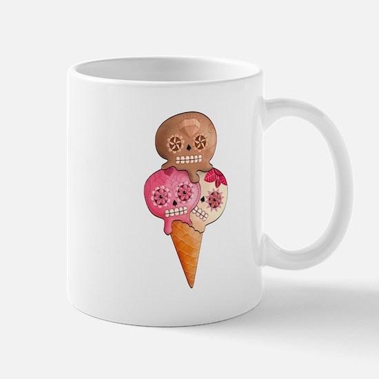 El Dia de Los Muertos Ice Cream Mugs