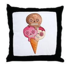 El Dia de Los Muertos Ice Cream Throw Pillow