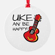 UkeHappyOutline Ornament