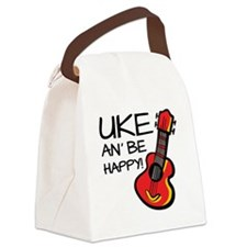 UkeHappyOutline Canvas Lunch Bag