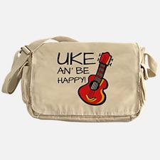 UkeHappyOutline Messenger Bag