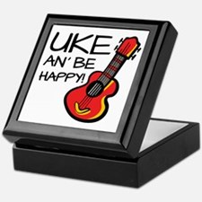 UkeHappyOutline Keepsake Box