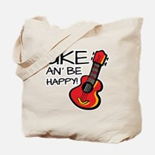 UkeHappyOutline Tote Bag