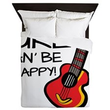 UkeHappyOutline Queen Duvet