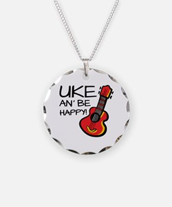 UkeHappyOutline Necklace