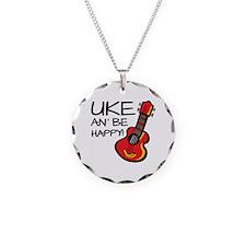 UkeHappyOutline Necklace Circle Charm