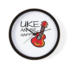 UkeHappyOutline Wall Clock