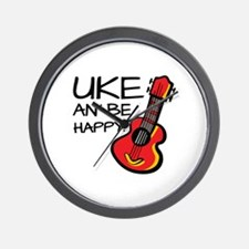 UkeHappyOutline Wall Clock