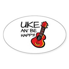 UkeHappyOutline Decal