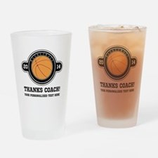 Thank you basketball coach Drinking Glass