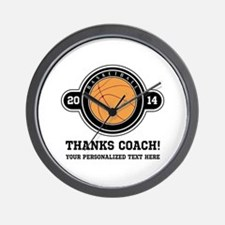 Thank you basketball coach Wall Clock