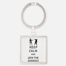 Keep Calm and Join The Zombies Keychains