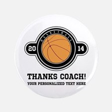"""Thank you basketball coach 3.5"""" Button"""
