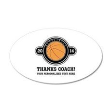 Thank you basketball coach Wall Decal