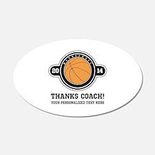 Thank you basketball coach Wall Decal