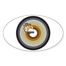 BEAR PRIDE CIRCLE/PAW Oval Decal
